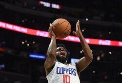 """""""Žalgiryje"""" vietos neradęs gynėjas svariai prisidėjo prie """"Clippers"""" pergalės"""