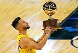 S.Curry su paskutiniu metimu laimėjo NBA snaiperių konkursą