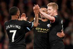 """K.De Bruyne dublis paženklintas triuškinama """"Man City"""" pergale prieš """"Arsenal"""""""