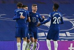 """""""Chelsea"""" užtikrintai susitvarkė su """"Everton"""" futbolininkais"""
