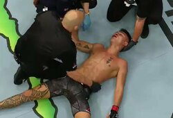 Neįtikėtina: žandikaulį ir nosį susilaužęs UFC kovotojas sukūrė vieną įspūdingiausių vakaro nokautų