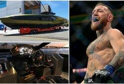 """C.McGregoro """"Lamborghini"""" jachta paruošta naudojimui: """"Ant jūsų, valkatos, man nusišvilpt"""""""