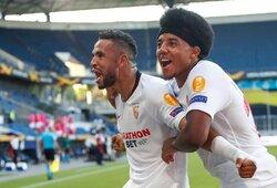 """""""Roma"""" užtikrintai nugalėjusi """"Sevilla"""" žengė į Europos lygos ketvirtfinalį"""
