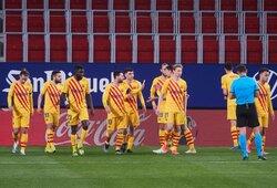 """""""Barcelona"""" užtikrintai susitvarkė su """"Osasuna"""" futbolininkais"""