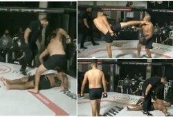 """Siaubingai dirbęs MMA teisėjas – suspenduotas: leido varžovą """"nokautuoti"""" 3 kartus"""
