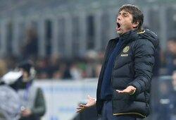 """A.Conte po lygiųjų su """"Roma"""" buvo piktas dėl fanų švilpimo: """"Tai nėra gerai"""""""