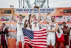 JAV krepšininkai įveikė latvius ir pirmą kartą tapo pasaulio 3x3 čempionais