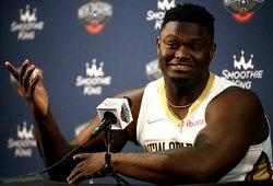"""Svorio priaugęs Z.Williamsonas neramina """"Pelicans"""" vadovus"""