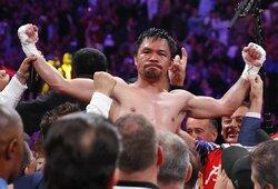 F.Mayweatheris trumpai pakomentavo M.Pacquiao pergalę, šypseną po legendos triumfo išspaudė net K.Leonardas