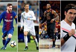 Top 100: populiariausi pasaulio sportininkai