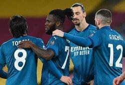 """""""AC Milan"""" išvykoje įveikė """"AS Roma"""" futbolininkus"""