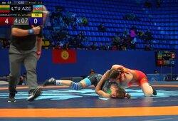 Bronzinė D.Domikaitytės tradicija: Lietuvos imtynininkė Ukrainoje laimėjo mažąjį finalą