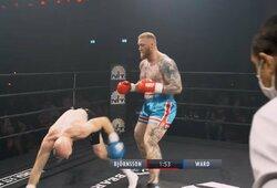 Bokso ringe debiutavęs H.Bjornssonas prieš profesionalą atsilaikė visus 3 raundus