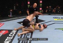 """Revanšas po skandalingos kovos nepavyko: I.Cutelaba buvo """"išjungtas"""" UFC narve"""