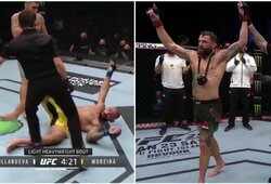 """Su M.Bukausku negalėjęs kovoti brazilas """"išjungtas"""" UFC narve, dominavęs M.Chiesa metė iššūkį C.Covingtonui"""