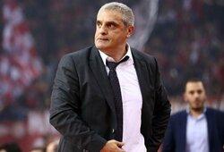 """""""Panathinaikos"""" prieš išvyką į Kauną atleido trenerį"""