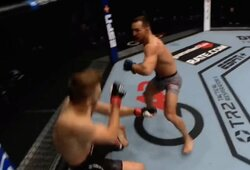 """""""Atvyko naujasis Karalius"""": buvęs """"Bellator"""" čempionas M.Chandleris įspūdingai debiutavo UFC ir pirmame raunde nokautavo D.Hookerį"""