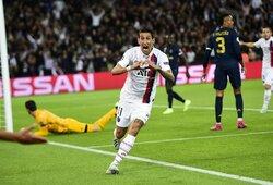 """Čempionų lyga: A.Di Marios dublis paženklintas triuškinama PSG pergale prieš """"Real"""""""