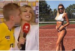 Pamatykite: Ukrainos rinktinės talentas po įspūdingos pergalės neatsispyrė žurnalistės grožiui