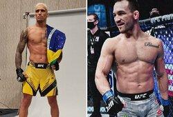 """""""UFC 262"""" pristatymas ir prognozės: buvęs """"Bellator"""" čempionas M.Chandleris ar aštuonių iš eilės pergalių seriją UFC turintis Ch.Oliveira?"""