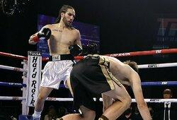 M.Ali anūkas įspūdingai debiutavo profesionaliame bokse
