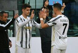 """Italijoje – dvi raudonos kortelės ir dramatiška """"Juventus"""" pergalė prieš """"Inter"""""""