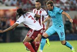 """Dviejų įvarčių pranašumą iššvaistęs """"Tottenham"""" susitikimą su """"Olympiacos"""" baigė lygiosiomis"""