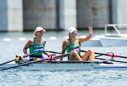 Lietuviai pradėjo Tokijo olimpiadą: M.Griškonis užtikrintai pateko į kitą atrankos etapą, M.Valčiukaitė ir D.Karalienė – į pusfinalį