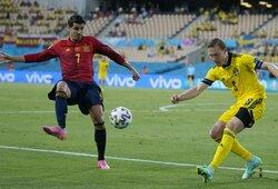 Euro 2020: Ispanijos rinktinė nesugebėjo įveikti Švedijos futbolininkų