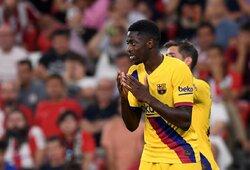 """Savo traumos """"Barcelonai"""" laiku neatskleidęs O.Dembele gali sulaukti milžiniškos baudos"""