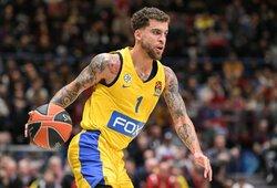 """S.Wilbekino taiklus tritaškis padovanojo """"Maccabi"""" pergalę prieš """"Olympiacos"""""""