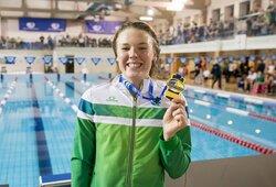 U.Mažutaitytė pagerino R.Meilutytės rekordą, atranką laimėjęs D.Rapšys atsisakė plaukti finale