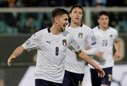 EURO2020 atranka: devynis įvarčius pelniusi Italija pasiekė vieną didžiausių pergalių savo istorijoje, Ispanija sutriuškino varžovus