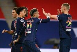 """Triuškinamą pergalę iškovojęs PSG klubas išsaugojo viltį apginti """"Ligue 1"""" čempiono titulą"""