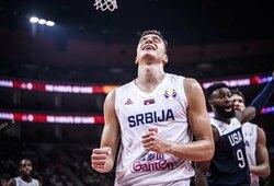 JAV duobė gilėja: pralaimėta Serbijos krepšininkams