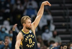 """Arti trigubo dublio buvęs D.Sabonis su """"Pacers"""" suklupo Vašingtone"""
