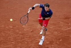 """""""Roland Garros"""" antrasis ratas: R.Berankis – N.Djokovičius 1:6, 2:6, 0:0 (GYVAI)"""