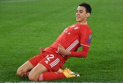 """Čempionų lygoje 17-metis pelnė įvartį ir pakeitė """"Bayern"""" istoriją, o Vokietijos čempionai užtikrintai įveikė """"Lazio"""""""