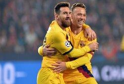 """Čempionų lyga: """"Barcelona"""" pergalė Prahoje ir L.Messi rekordai"""