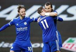 """Anglijoje – """"Leicester City"""" pergalė svečiuose prieš """"Man Utd"""""""