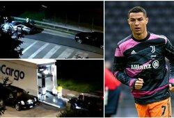 C.Ronaldo kraustosi: įspūdinga portugalo automobilių kolekcija išvežta iš Turino