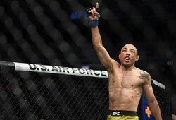 """Kovą dėl čempiono diržo techniniu nokautu pralaimėjęs J.Aldo: """"Tik tie, kurie nesikauna, nepralaimi"""""""