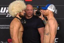 Kova dėl UFC pasaulio čempiono diržo: Ch.Nurmagomedovas – J.Gaethje (GYVAI)