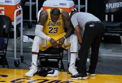 """L.Jamesas apie NBA žvaigždes užklupusias traumas: """"Žinojau, kad taip bus"""""""