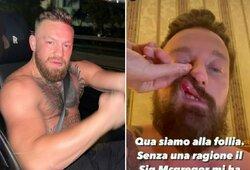 """C.McGregoras vėl prisidirbo: bus paduotas į teismą už užpuolimą ir """"už nieką"""" sulaužytą Italijos DJ nosį"""