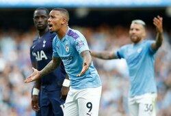 """Su VAR pagalba anuliuotas G.Jesuso 92-ąją minutę pelnytas įvartis atėmė iš """"Man City"""" pergalę prieš """"Tottenham"""""""