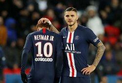 Neymaras sugrįžo, o PSG iškovojo eilinę pergalę Prancūzijoje