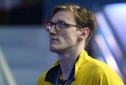 M.Hortonas savo protestu užsitarnavo plaukikų pagarbą: valgykloje australas sutiktas ovacijomis