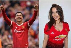 """Karščiausią """"Man United"""" sirgalę pravirkdė C.Ronaldo sugrįžimas, internetą apskriejo ir portugalo mamos reakcija"""