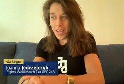 """J.Jedrzejczyk siūlo trečią kovą prieš R.Namajunas: """"Čia suktųsi dideli pinigai, tikiu, kad laimėčiau"""""""